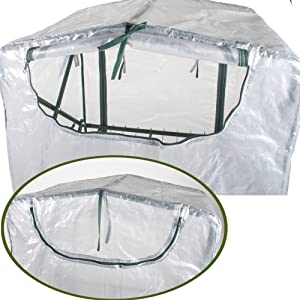 Verdelook, serra, 4 ripiani, pieghevole, cerniera, posteriore, areazione