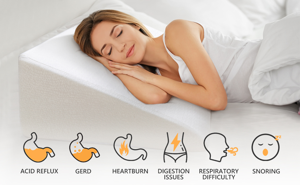bed wedge pillow for sleeping and acid reflux pillow wedge cover wedge pillow for acid reflux