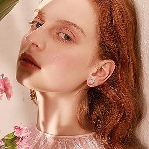 Pink earrings