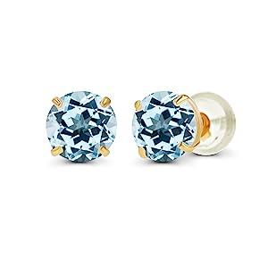 Sky Blue Topaz Earrings
