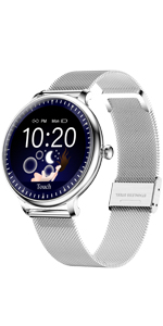 Smart Watch for Women Compatible with iOS Android Phone IP67 Waterproof Watch Heart Rate Monitor