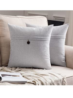 farmhouse pillow covers retro vintage decor accent home decoration button cushion