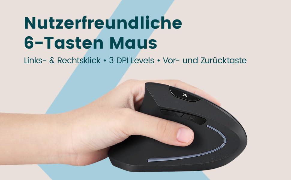 Perixx Perimice 713 Ergonomische Linkshänder Maus Computer Zubehör