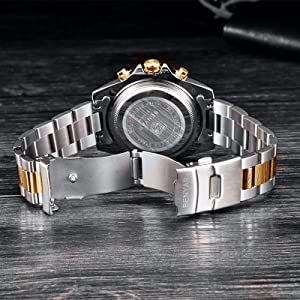 two-tone case and link bracelet