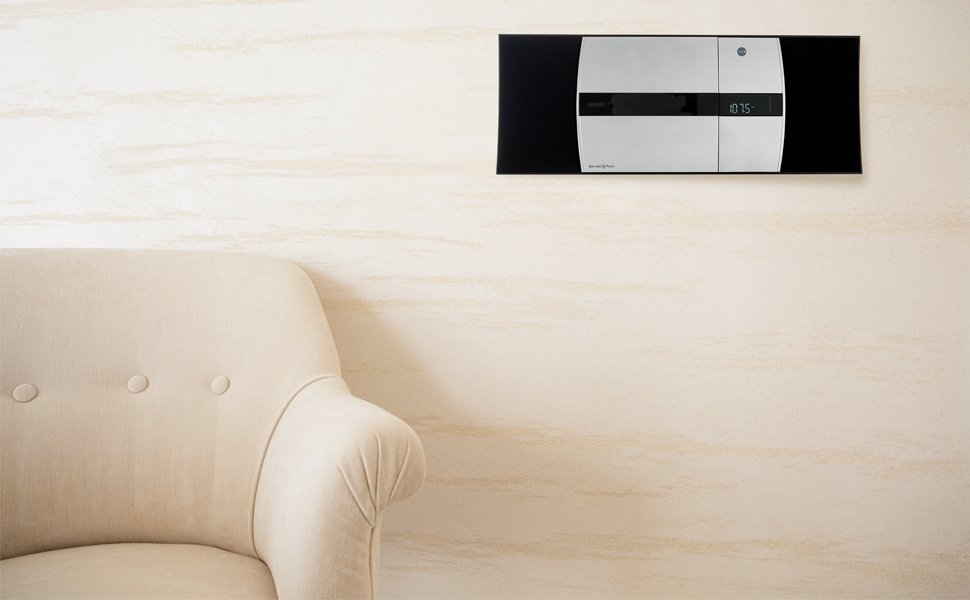 Bennett & Ross Mini Stereoanlage Kompakt mit CD Bluetooth Radio Wandmontage Vertikal HiFi Anlage