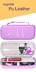 purple stethoscope case