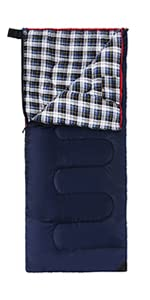 cotton sleeping bag hooded with hood flannel thick soft warm thermal cold weather machine washable