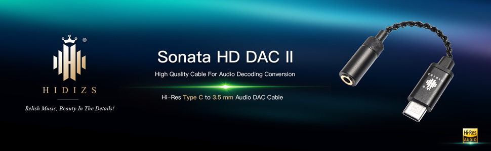 Hi-Res Type C to 3.5 mm Audio DAC Cable