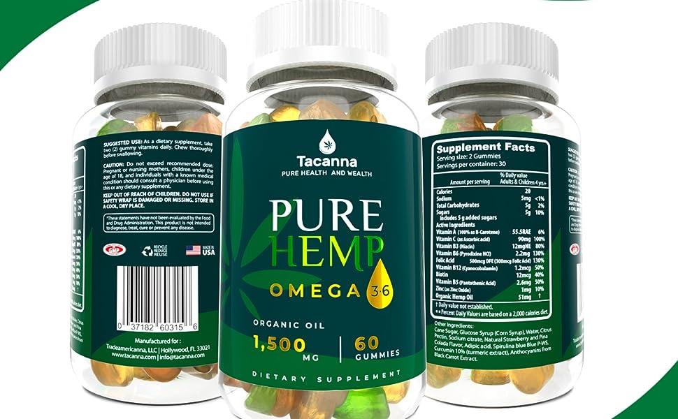 hemp anti stress gummies tacanna hemp chews hemp oil gummies multivitamin vitamin c d e  brain boost