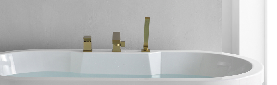 Roman tub filler