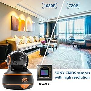 Sony sensors cmos sensor with high resolution 1920 1080 FHD smart app quality