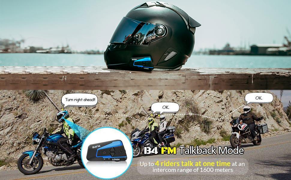 LEXIN B4FM Motorbike Intercom, Motorbike Bluetooth headset, Motorbike Helmet Intercom With FM
