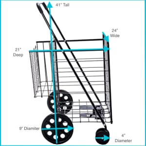Lifestyle Solutions Deluxe Folding Shopping Cart