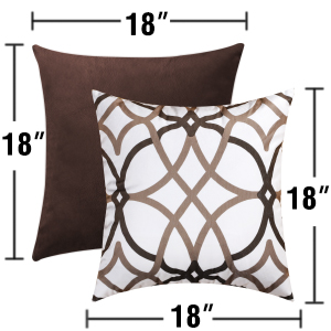 H.VERSAILTEX Original Velvet Cushion Covers 18x18 Mix and Match Decorative Throw Pillow Covers for Living Room//Sofa//Couch Bed Grey//Grey/&Mustard Set of 2