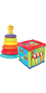 Baby Activity Center Flashing Baby Stack Toys