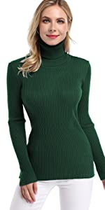 mock turtleneck slim fit pullover sweater