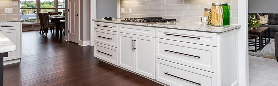 Black bar pull cabinet knob