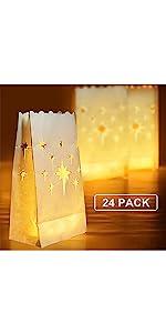 White Luminary Bags