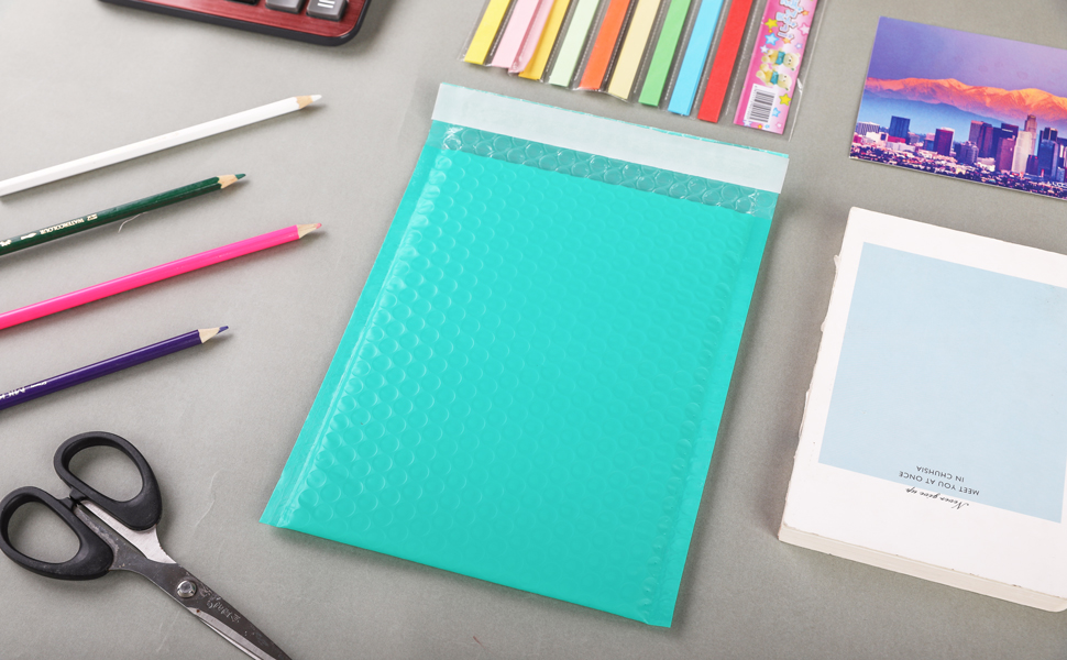 Bubble Mailers teal