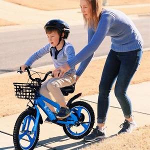 Kids Bike with Training Wheels and Kickstand for 6 year old boy