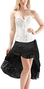 black matching skirts