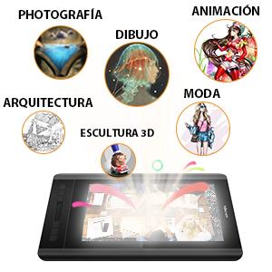 XP-Pen Artist 12 HD IPS Tableta Gráfica de Dibujo Digital, Pantalla Gráfica de 8192 Sensibilidad a La Presión con Teclas de Atajo y Panel Táctil, Software de Dibujo Gratuido como Opencanvas 7 (