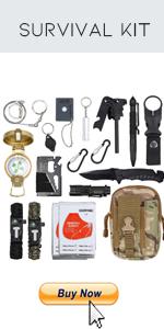 Emergency Survival Kit 16 in 1,Mini Survival Gear Ki