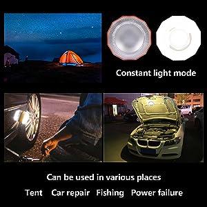 Base magn/étique 2 Modes d/éclairage Lampe de Poche Portable pour la randonn/ée la p/êche et Les urgences Lampe de Camping /à Del Amovible OnReal Lanterne de Camping imperm/éable