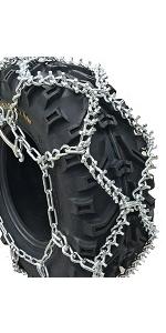 Priced per Pair TireChain.com 26x8.00-12 26 8.00 12 ATV UTV Stud Tire Chains