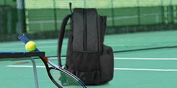 Side mesh pocket and adjustable shoulder strap