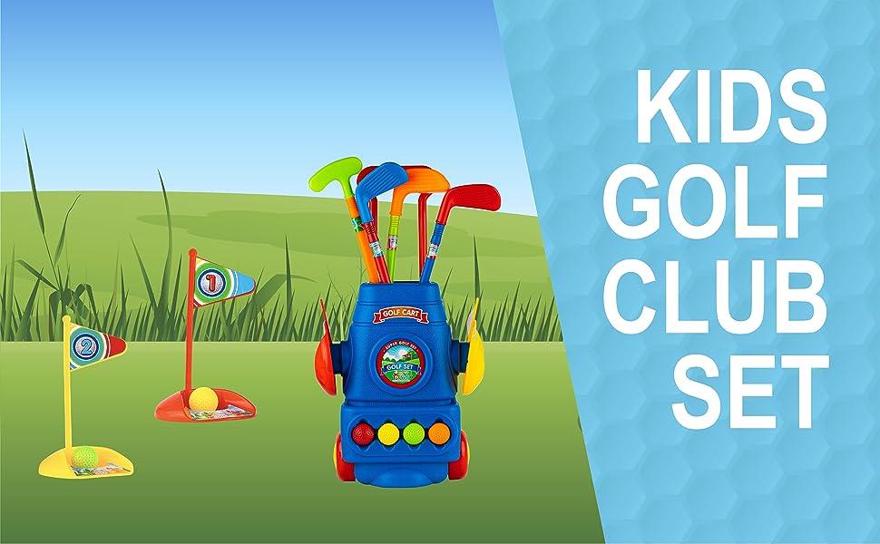 golf set pretend play golf kids amazon toyvelt colors
