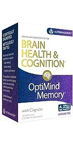 optimind memory brain health cognition remember cognizin caffeine-free supplement alternascript