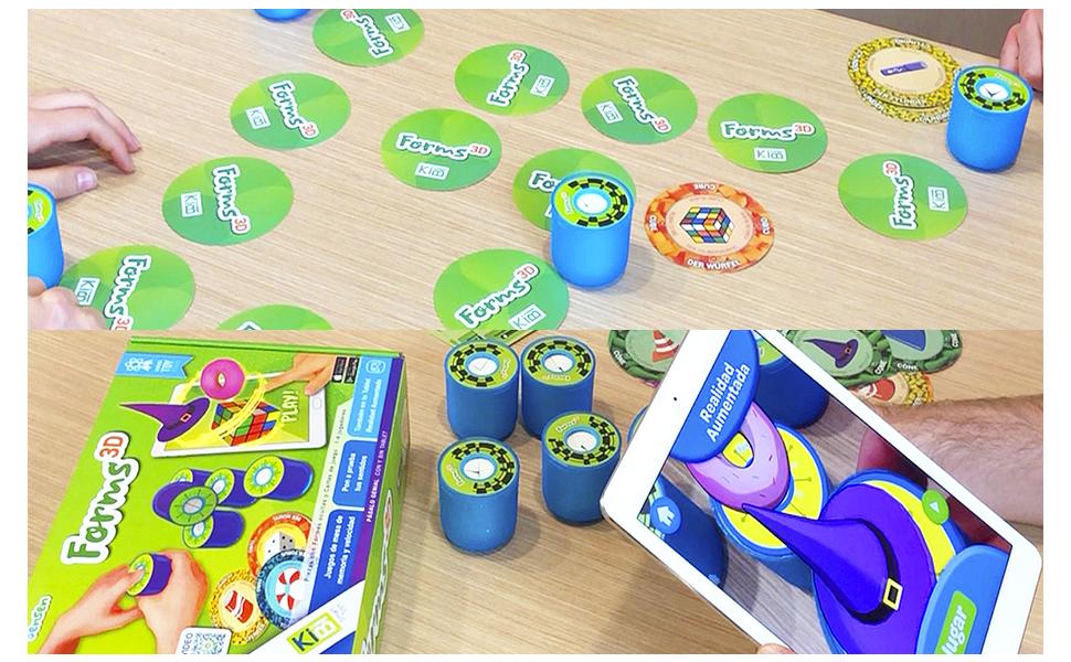 kibi Forms 3D - Juegos de Mesa rápidos y Divertidos con Formas y Cartas. App educativa y Juegos 3D: Amazon.es: Juguetes y juegos