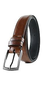 handmade leather belt dress brown