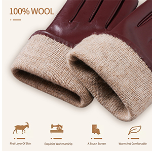 Luxury Italian Sheepskin Leather & Wool Lined
