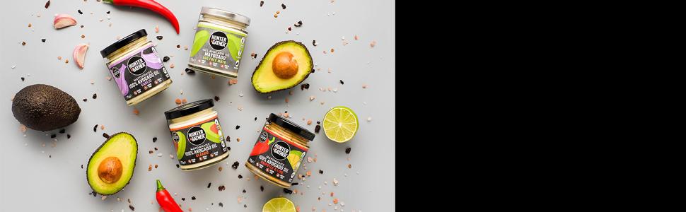 Hunter & Gather Mayonesa de Aceite de Aguacate Paquete de Variedades | Paleo, Ceto / Keto, Baja en Carbohidratos, Sin Gluten y Azúcar - 1 x Clásica, 1 ...