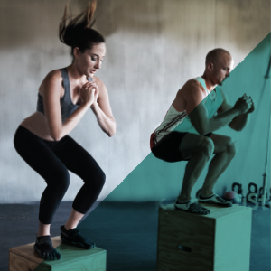 image of man and woman working out