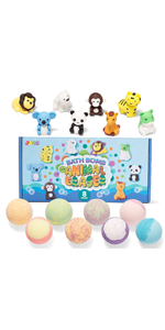 Bath Bombs for Kids with Animal Eraser