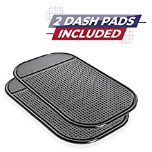 autoamerics windshield sun shade sunshade dashboard anti-slip sticky mats pads dash protection