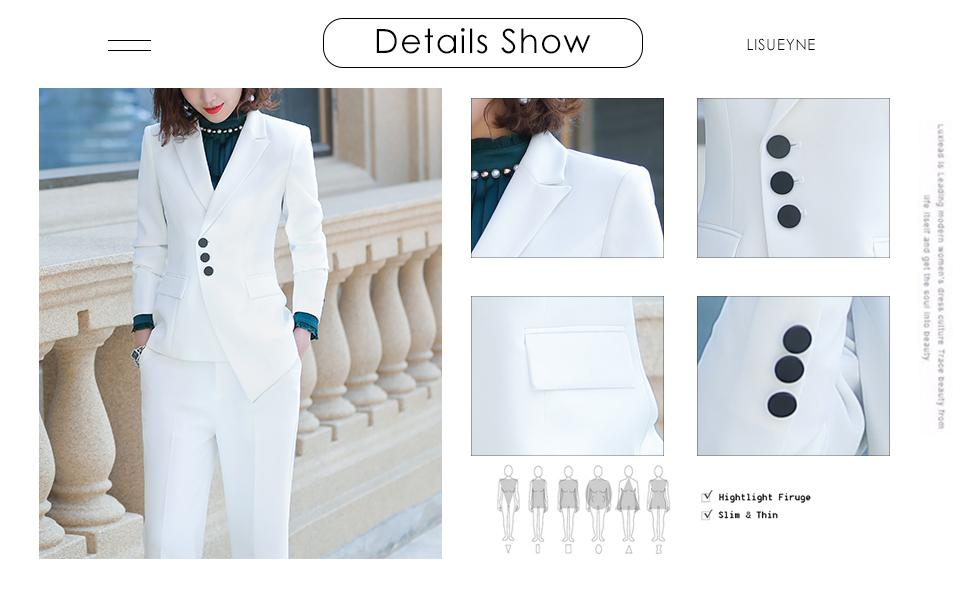 women suits--details show
