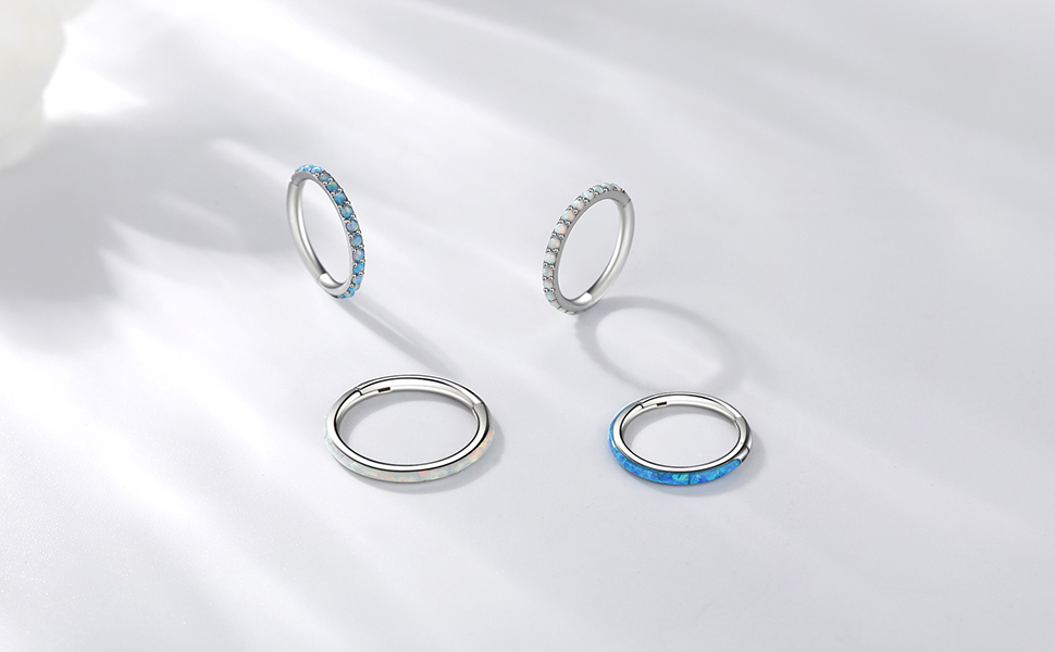 316L Surgical Steel Hinged Nose Rings Hoop Cartilage Earring Helix Septum Ring Body Piercing Jewelry