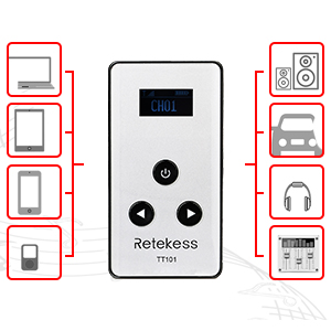 wireless tour guide system rechargeable