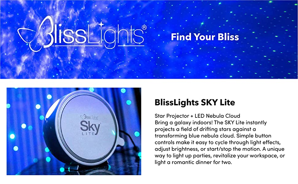 blisslights laser light star projector