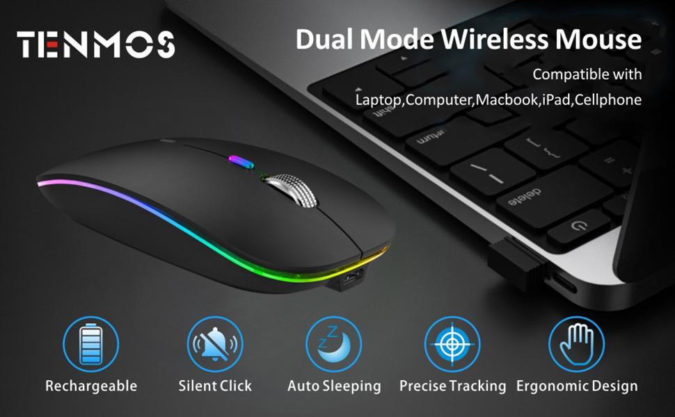 optical dual mose bluetooth mouse
