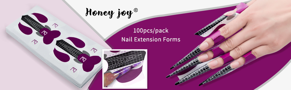nail form forms acrylic nails gel  sticker builder  c curve  extension  long  extra tips guide