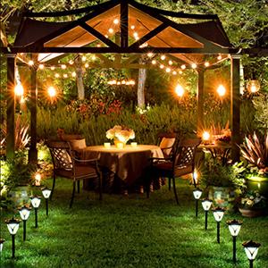 AUOPLUS G40 Cadena de Luces,9.1M Guirnaldas Luminosas Exterior con 30+3(Bombillas Repuestas) Luces Jardín al Aire Libre,IP44 Impermeable para Fiesta,Boda,Patio,Cafe,Cable de Extensión 3M Incluida: Amazon.es: Iluminación