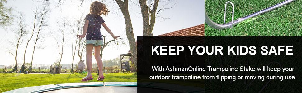 Ashmanonline trampoline stake