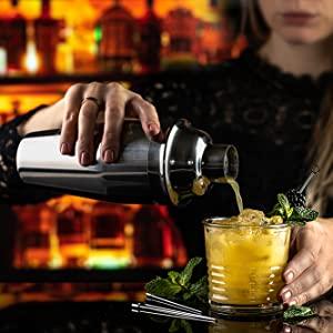 Selotrot Acier Inoxydable Cocktail /Écraseur Mojitos Boisson /Écraseur Professionnel Barman Outil