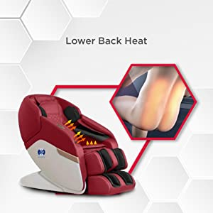 lower back heat massage chair