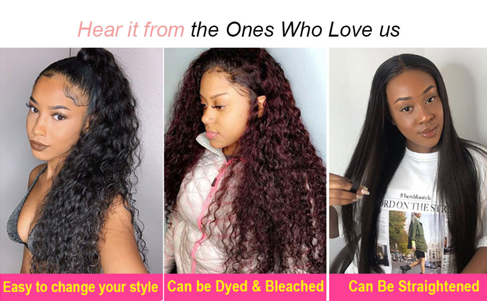 FLYBAO 4x4 Water Wave Wigs